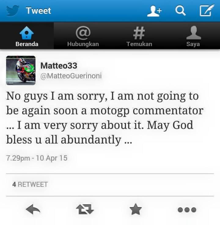 matteo tak lagi jadi komentator motogp