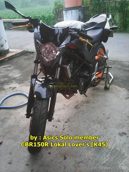 Modifikasi Honda CBR150R lokal Jadi Telanjang Pakai Headlamp Suzuki Satria F Sadis 000 Pertamax7.com