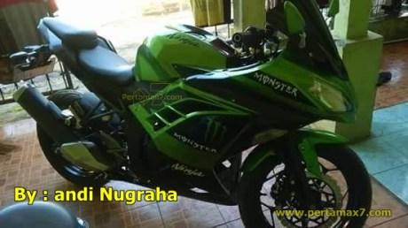 modifikasi kawasaki ninja 250 RR MONO jadi ninja 250 FI