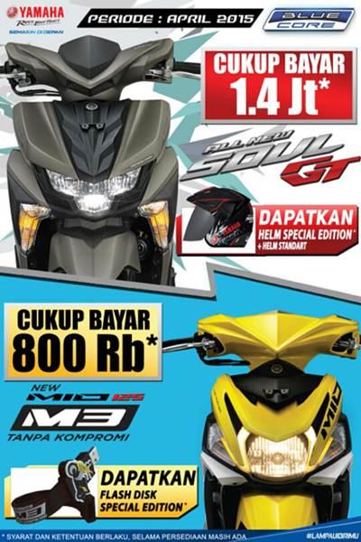 promo hard selling yamaha soul gt 125 dan mio m3 125 DP murah