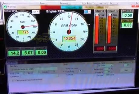 tospeed honda CB150R spek balap IRS tembus 175 km per jam di atas dynotest pertamax7.com