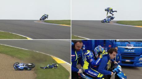 Aleix Espargaro Crash Hi SIde Motogp Le Mans france 2015 02Pertamax7.com