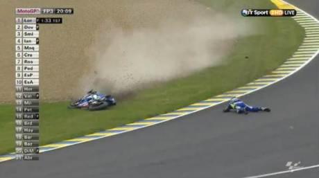 Aleix Espargaro Crash Hi SIde Motogp Le Mans france 2015 04Pertamax7.com