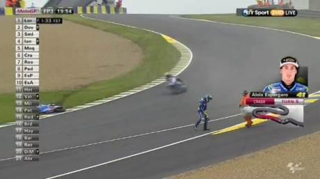 Aleix Espargaro Crash Hi SIde Motogp Le Mans france 2015 06Pertamax7.com