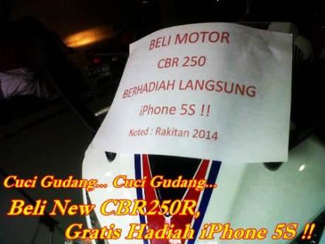beli-honda-cbr250r-gratis-apple iphone 5s