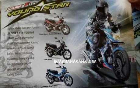 brosur suzuki satria F115 young star standar dan motogp