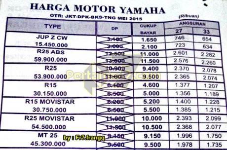harga yamaha MT-25 di Jakarta depok bekasi tangerang mei 2015