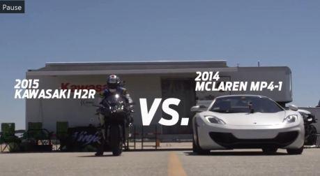 kawasaki ninja H2R VS McLarenMp4-12c