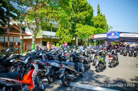 konsumen padati Service Gratis Yamaha Motor Show 2015 d Wonogiri pertamax7.com_-3