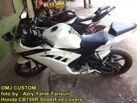 Modifikasi Honda CB150R fairing ala Ninja 250 FI 00 pertamax7.com