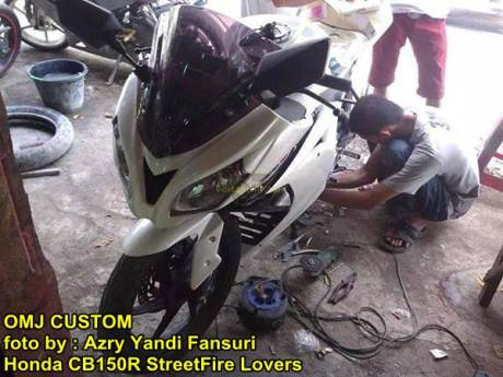 Modifikasi Honda CB150R fairing ala Ninja 250 FI 01 pertamax7.com