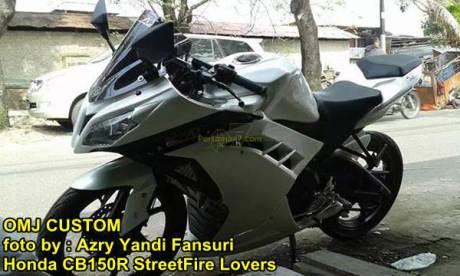 Modifikasi Honda CB150R fairing ala Ninja 250 FI 02 pertamax7.com