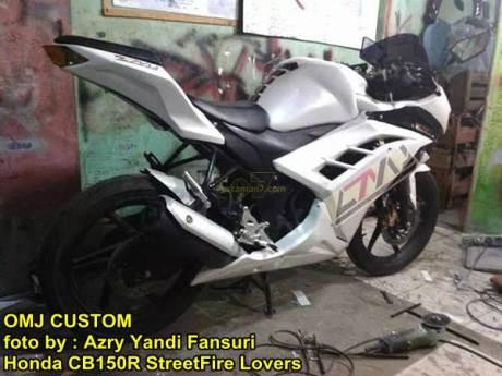 Modifikasi Honda CB150R fairing ala Ninja 250 FI 03 pertamax7.com