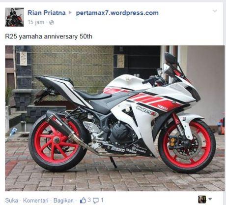 Modifikasi R25 Livery Yamaha Anniversary 50th, Pro Arm dan Upside Down Bikin Ganteng 01Pertamax7.com