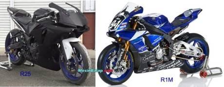 Modifkasi Yamaha R25 jadi ala Yamaha R1M 01 pertamax7.com