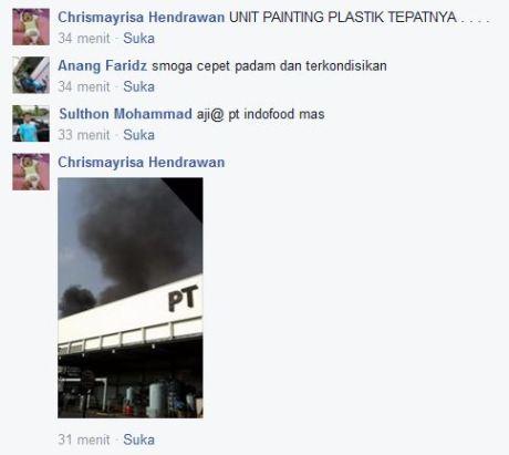 pabrik ahm cibitung unit painting plastik terbakar di cibitung bekasi