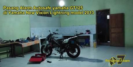 Pasang Alarm Autosafe yamaha GT125 di Yamaha New Vixion Lightning model 2013 pertamax7.com