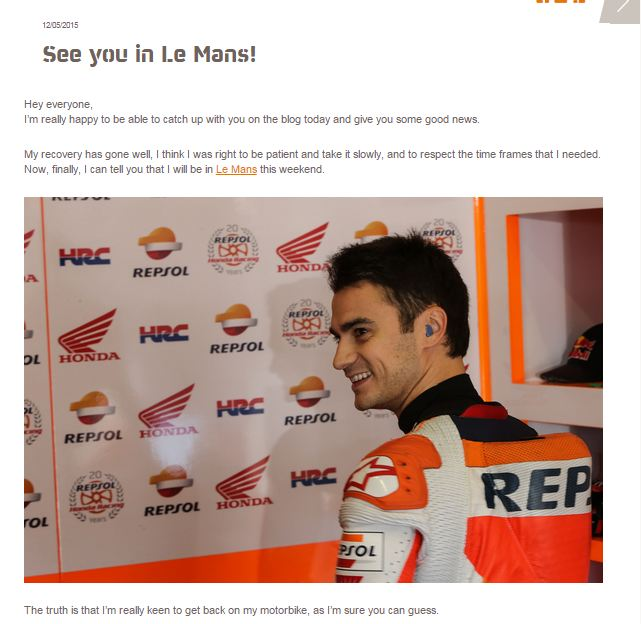 pedrosa  see you in le mans motogp 2015