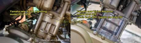 perbandingan mesin yamaha new vixion lightning vs yamaha new vixion advance 2015 block cylinder