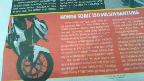 tampang honda sonic reborn K56