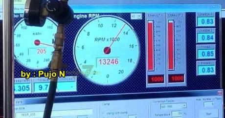 Tospeed yamaha R25 tembus 205 km per jam