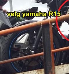 velg depan yamaha new vixion facelift 2015 pakai velg yamaha R15