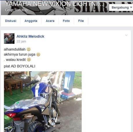 yamaha new vixion advance 2015 motogp movistar konsumen boyolali