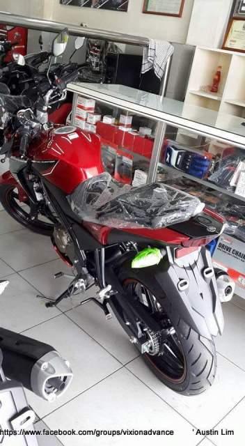 yamaha new vixon advance 2015  merah