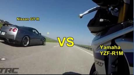 yamaha R1M VS Nissan GT-R R35 750 HP