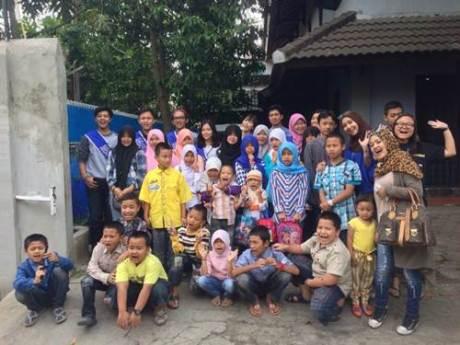 Aktivitas outdoor Charity Campaign Online Y2C (Yamaha Youth Community) di Bandung