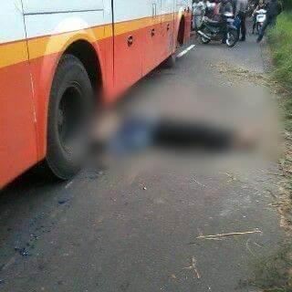 Anggota Polisi Terlindas Bus Harapan Jaya di Kediri, nih kronologinya