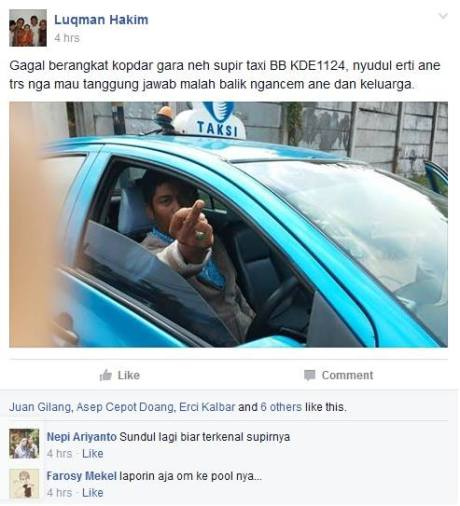 Arogansi Sopir Taxi Bluebird KDE 1124 Nendang Suzuki Ertiga saat debat kecelakaan
