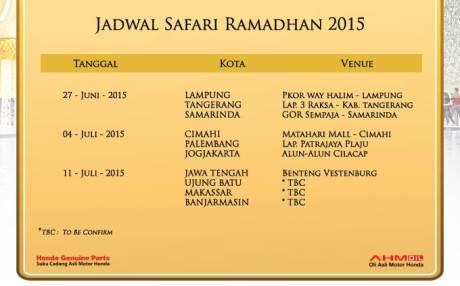 jadwal safari ramadhan honda 2015 pertamax7.com