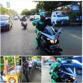Kamen Rider Keliling Banjarbaru Kalsel naik Honda CBR150R cari takjil 02 pertamax7.com