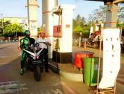Kamen Rider Keliling Banjarbaru Kalsel naik Honda CBR150R cari takjil 03 pertamax7.com