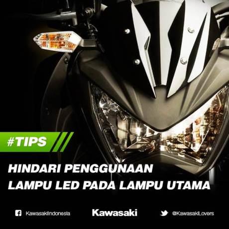 Kawasaki Indonesia himbai bikers hindari penggunaan LED sebagai lampu utama motor pertamax7.com