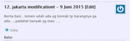 komentator pertamax7.com kecewa tidak dapat barang diskon cuci gudang yamaha byson dan scorpio Rp.6 juta 02Pertamax7.com