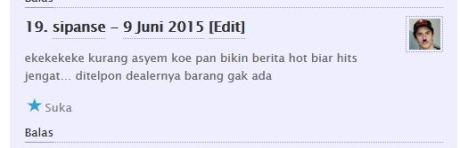 komentator pertamax7.com kecewa tidak dapat barang diskon cuci gudang yamaha byson dan scorpio Rp.6 juta 03Pertamax7.com