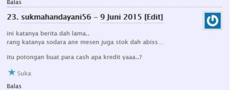 komentator pertamax7.com kecewa tidak dapat barang diskon cuci gudang yamaha byson dan scorpio Rp.6 juta 04Pertamax7.com
