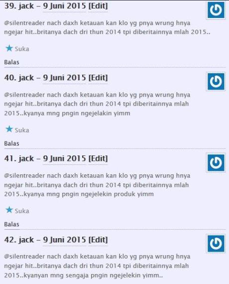 komentator pertamax7.com kecewa tidak dapat barang diskon cuci gudang yamaha byson dan scorpio Rp.6 juta 10Pertamax7.com