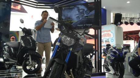 launching yamaha MT-09 di Pekan raya Jakarta 2015