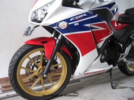 Modifikasi Honda CBR150R lokal pakai velg Daytona GP Wheel konsep CBR1000RR SP 06Pertamax7.com