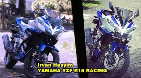 modifikasi pelat nomer yamaha r15 dibawah headlamp