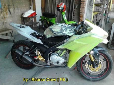 Modifikasi Yamaha new Vixion ala Kawasaki Ninja H2 04 pertamax7.com