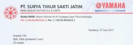 Mohon Maaf Pertamax7.Com Tidak Dapat Menghadiri Press Conference Yamaha MT-25 Di Surabaya