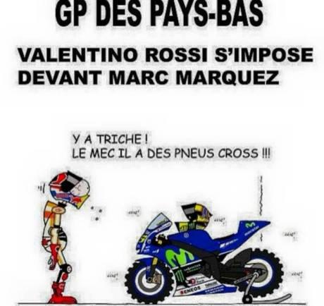 Motogp Assen 2015 Marquez belajar Motocross dari Rossi
