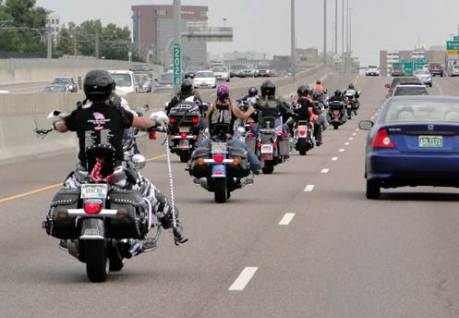Motorcycles On Highway