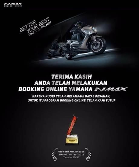 Resmi, 1000 Unit Yamaha NMAX non ABS ludes dalam 12,6 Jam pertamax7.com