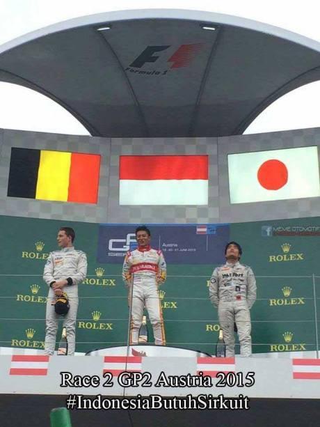 Rio Haryanto Kibarkan Merah Putih di GP2 Austria race 2