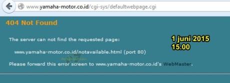 website yamaha down persiapan brojolnya produk baru kah